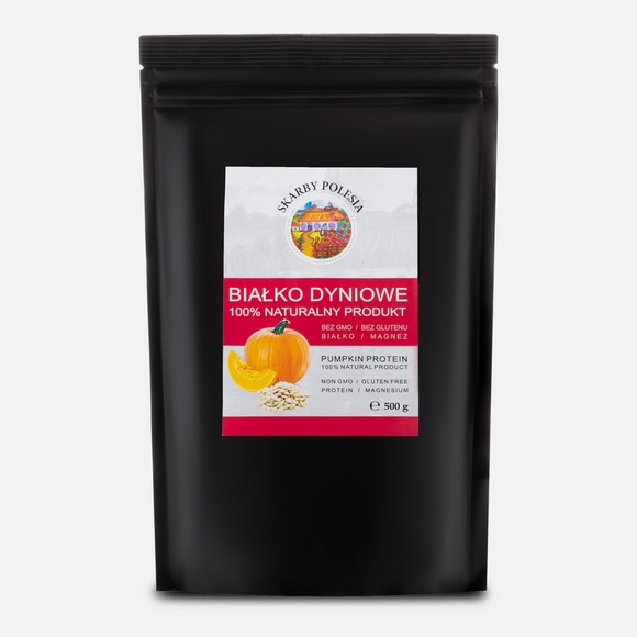 Pumpkin Protein Powder 500 g - 100% natural alternative to popular protein supplements -  does not contain gluten - suitable for vegans and vegetarians