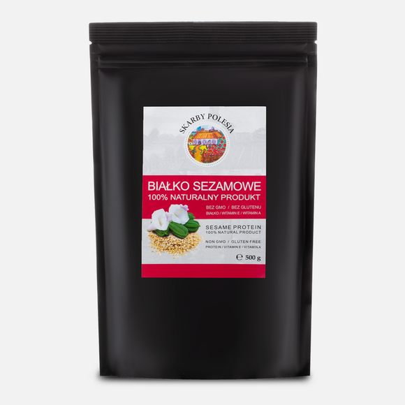 Sesame Protein Powder 500 g - 100% natural alternative to popular protein supplements -  does not contain gluten - suitable for vegans and vegetarians