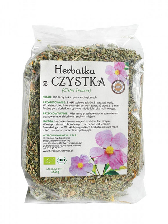 Cistus Tea - 150 grams - Franciscan Herbal - Franciscan Monks - Traditional Old Herbal Recipe