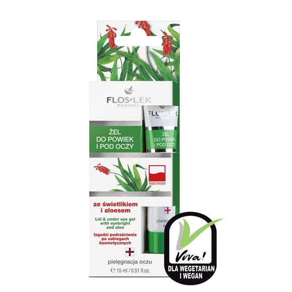 FLOS-LEK Eyelid And Eye Aloe Vera Gel - 15 ml