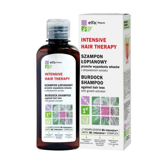 Elfa Pharm Intensive Hair Therapy Burdock Shampoo Against Hair Loss - 200 ml