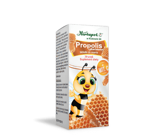 HERBAPOL Propolis With Flower Pollen - 30 lozenges