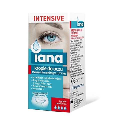 Starpharma IANA INTENSIVE Eye Drops Intensely Moisturizing 0.3% HA