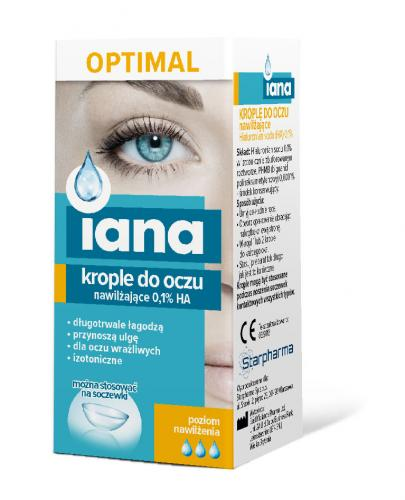 Starpharma IANA OPTIMAL Moisturizing Eye Drops 0.1% HA 10ml