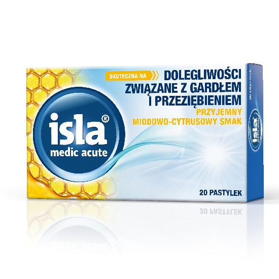Isla Medic Acute - lozenges for pain and scratching in the throat - honey-citrus - 20 lozenges