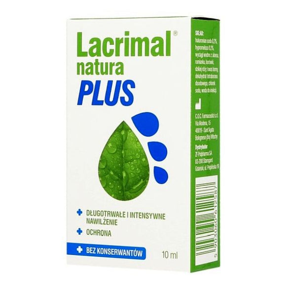 Lacrimal Natura Plus - Eye Drops - 10 ml