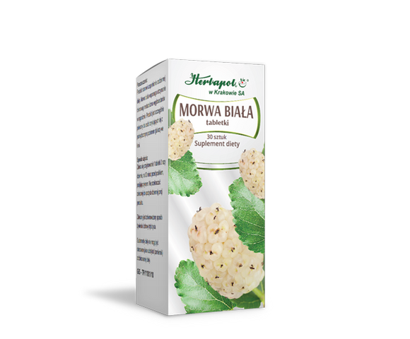 Herbapol WHITE MULBERRY - 30 tablets - also helps to reduce the body demand for sweets, which helps you to lose weight - helps to maintain the correct sugar level in blood