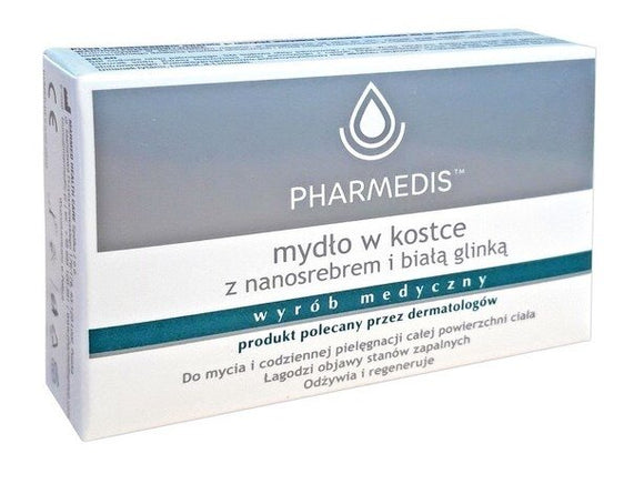 PHARMEDIS - Bar Soap With Nanosilver And White Clay - 100g