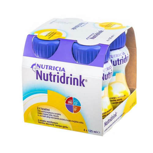 Nutridrink Nutritional Preparation Vanilla Flavor - 4 x 125 ml