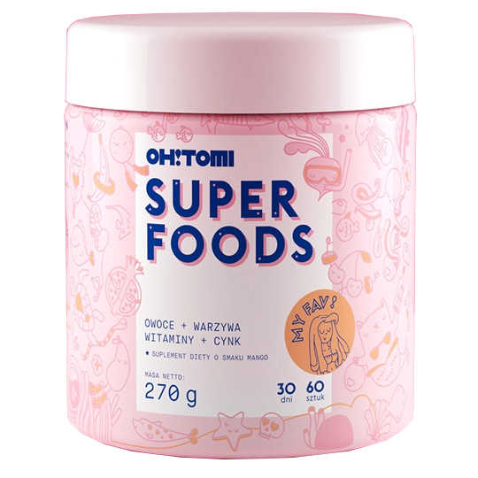 OH! TOMI SUPERFOODS - Mango-Flavored Jellies - 60 pieces Diet supplement