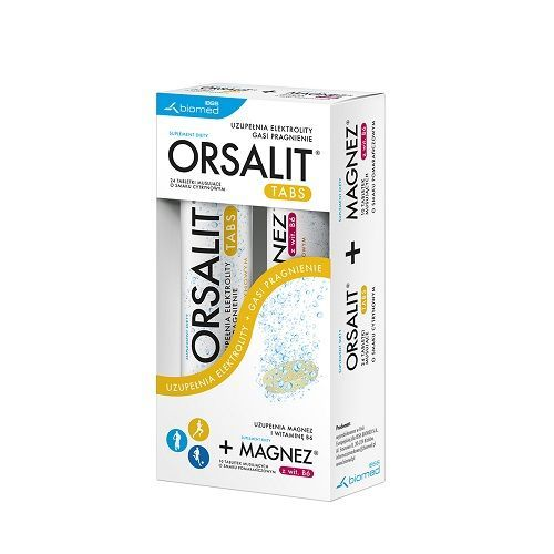 ORSALIT 24 Effervescent Tablets + MAGNESIUM With Vitamin B6 10 EffervescentTtablets