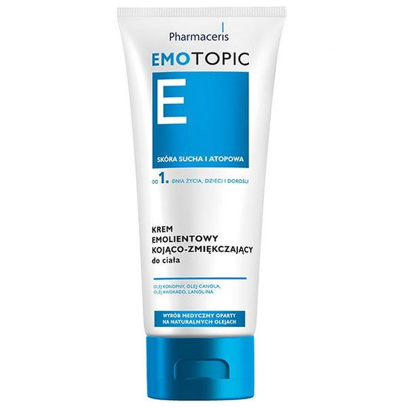 Pharmaceris Emotopic E - Emollient Soothing And Softening Body Cream For Adults And Children From 1 day Of Age - 200 ml