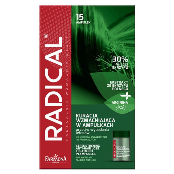 Farmona Radical Strengthening Treatment In Ampoules Agains Hair Loss - 15 x 5 ml