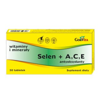 Selenium + A, C, E Antioxidants - 30 tablets