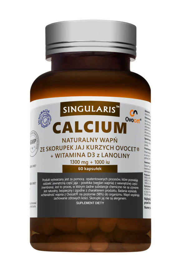 Singularis Natural Calcium From OVOCET Chicken Eggshells + Vitamin D3 - 60 capsules