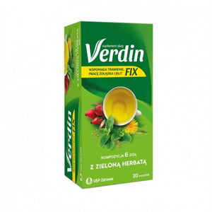 Verdin Fix With Green Tea - 20 sachets
