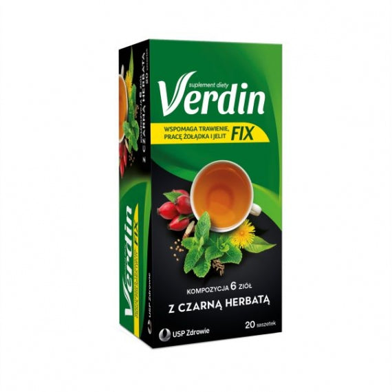 Verdin Fix With Black Tea - 20 sachets