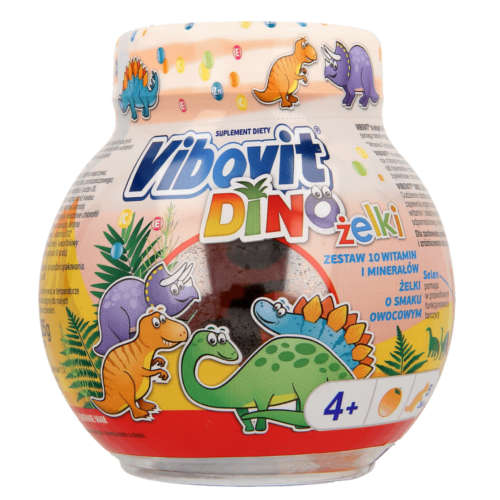 Vibovit DINO Jelly Beans - Set of 10 Vitamins And Minerals - 50 pieces