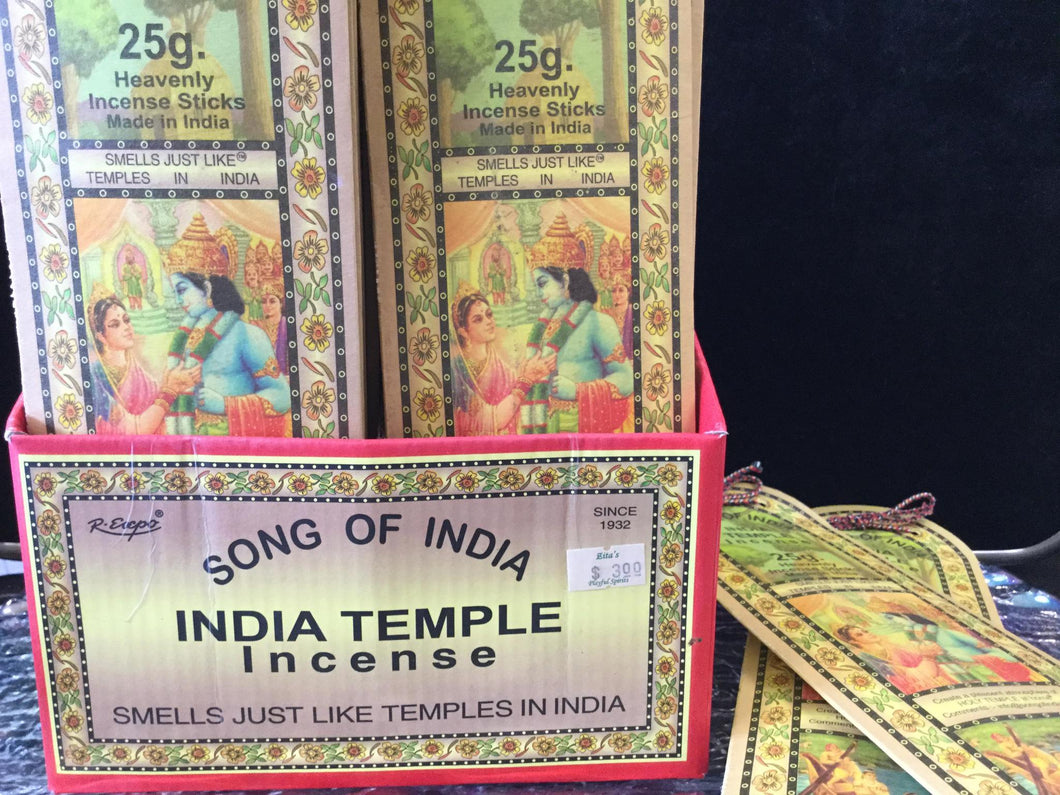 R.Expo India Temple Incense 25 Gr 20 Sticks