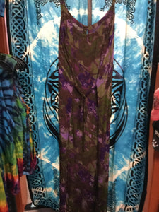 Long Cotton Dress w/tie back