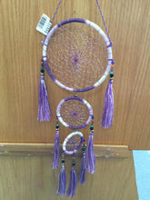 Load image into Gallery viewer, Three Tiered Crystal DreamCatcher