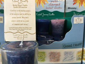 Reiki Votive Candles from Crystal Journey