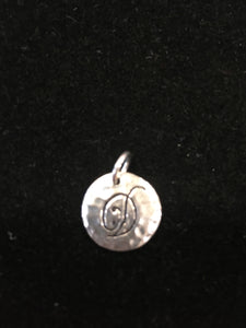 Initial Pendants in Sterling Silver