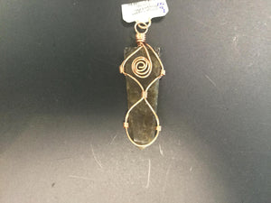 Flat Wire Wrapped Pendant