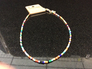 Seed Bead Multicolored Choker