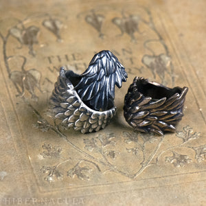 Guardian Angel -- Ring In Bronze or Silver | Hibernacula