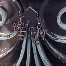 Load image into Gallery viewer, Aqua Vitae -- Alchemy Earrings in Bronze or Silver | Hibernacula