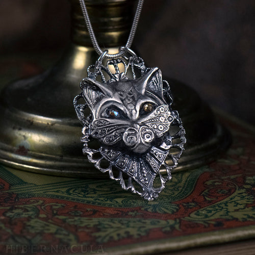 Bastet -- Regal Cat Necklace in Bronze or Silver | Hibernacula