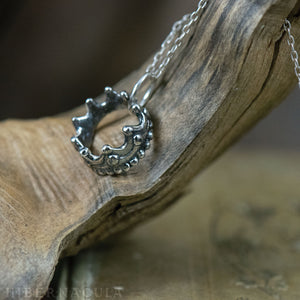 Little Crown -- Faerie Pendant in Bronze or Silver | Hibernacula