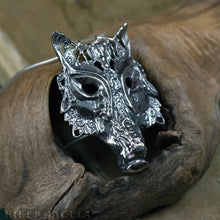 Load image into Gallery viewer, Howl -- Wolf / Fox / Coyote Mask, in Bronze or Silver | Hibernacula