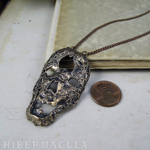 Memento  Mori -- Necklace in Bronze or Silver | Hibernacula