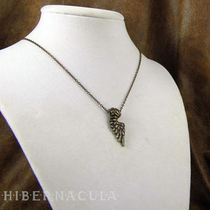 Little Angel Wing -- Pendant In Bronze or Silver | Hibernacula