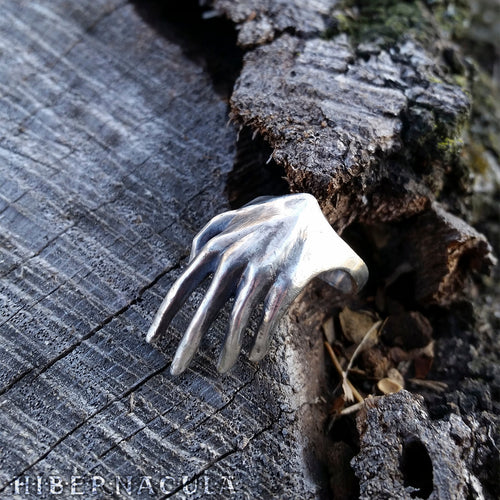Manifestation -- Hand Ring in Bronze or Silver | Hibernacula