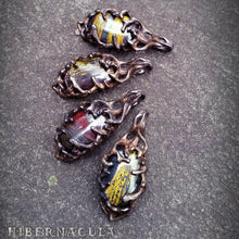 Load image into Gallery viewer, Gaia's Cradle -- Tiger Iron & Bronze Pendant | Hibernacula