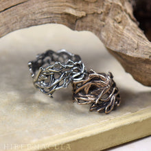 Load image into Gallery viewer, Mandrake Root -- Wrap Ring in Bronze or Silver | Hibernacula
