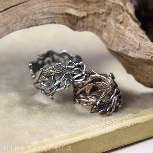 Mandrake Root -- Wrap Ring in Bronze or Silver | Hibernacula