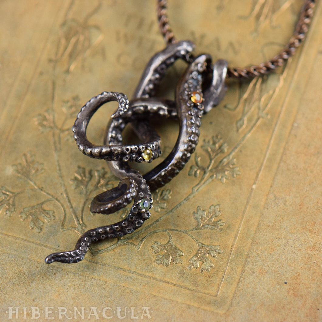 Treasures of the Deep -- Tentacle necklace in Bronze or Silver | Hibernacula