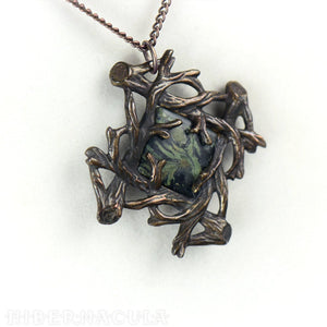 Sanctuary -- Jasper Pendant in Bronze or Silver | Hibernacula