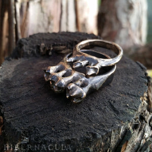 Omnivore -- Tooth Ring in Bronze or Silver | Hibernacula