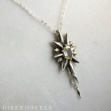 Load image into Gallery viewer, The Star -- Silver & Gemstone Pendant & Chain | Hibernacula