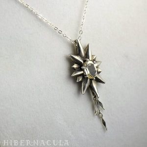 The Star -- Silver & Gemstone Pendant & Chain | Hibernacula