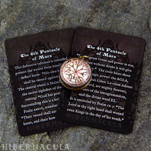 4th & 6th Pentacles of Mars -- A Talisman for War | Hibernacula