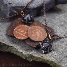 Load image into Gallery viewer, Compass Stone -- Raw Magnetite Crystal Set in Bronze or Silver | Hibernacula