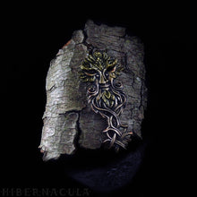 Load image into Gallery viewer, Key of the Green Man -- Painted Bronze Pendant | Hibernacula