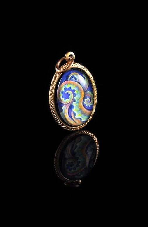 Tentacle -- Brass Pendant with Original Artwork | Hibernacula