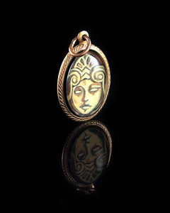 Athena -- Brass Pendant with Original Artwork | Hibernacula
